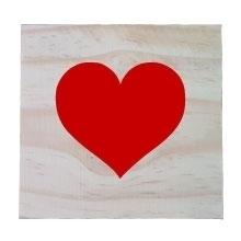 Raw Pine Scrabble Tile - HEart