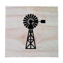 Raw Pine Scrabble Tile - Windmill