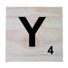 Raw Pine Scrabble Tile - Y