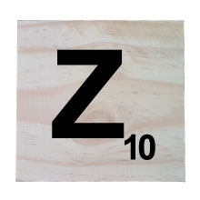 Raw Pine Scrabble Tile - Z