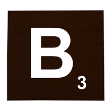 B Stained Scrabble Tile