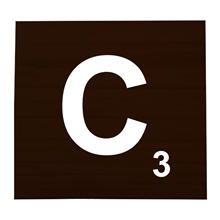 C Stained Scrabble Tile