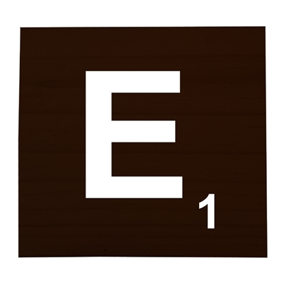 E Stained Scrabble Tile