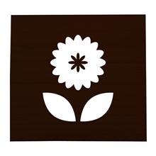 Flower Stained Scrabble Tile