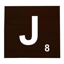 J Stained Scrabble Tile