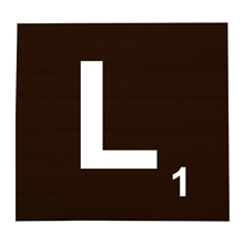 L Stained Scrabble Tile