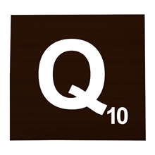 Q Stained Scrabble Tile