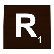 R Stained Scrabble Tile