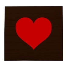 Red Heart Stained Scrabble Tile