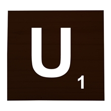 U Stained Scrabble Tile