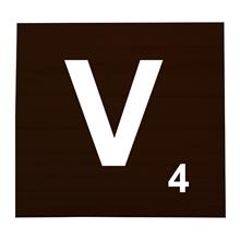 V Stained Scrabble Tile