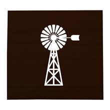 Windmill Stained Scrabble Tile