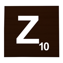 Z Stained Scrabble Tile