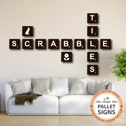 Stained Scrabble Tiles